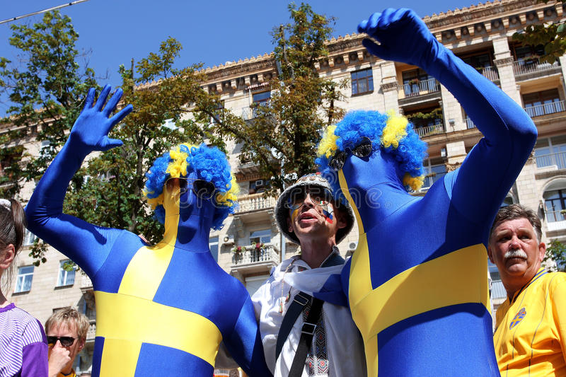 Download Funny Football Fans In Fan-Zone Of UEFA Euro 2012 Editorial Photo - Image: 25317661