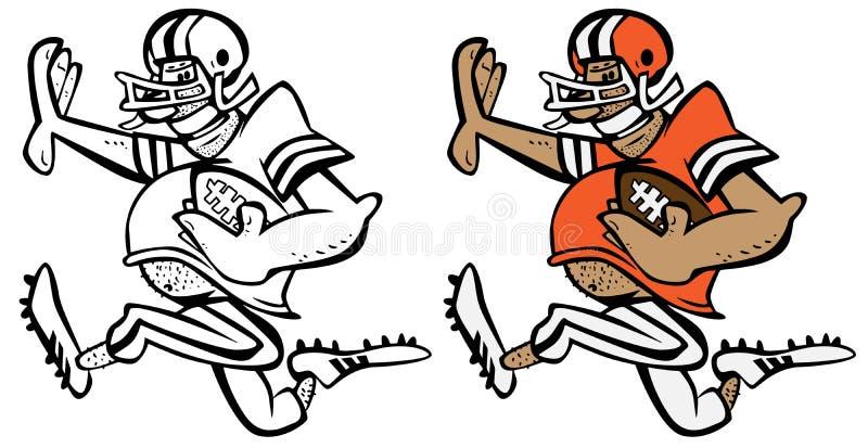 Funny Football Player Cartoon Vector Graphic Illustration royalty free stock photos