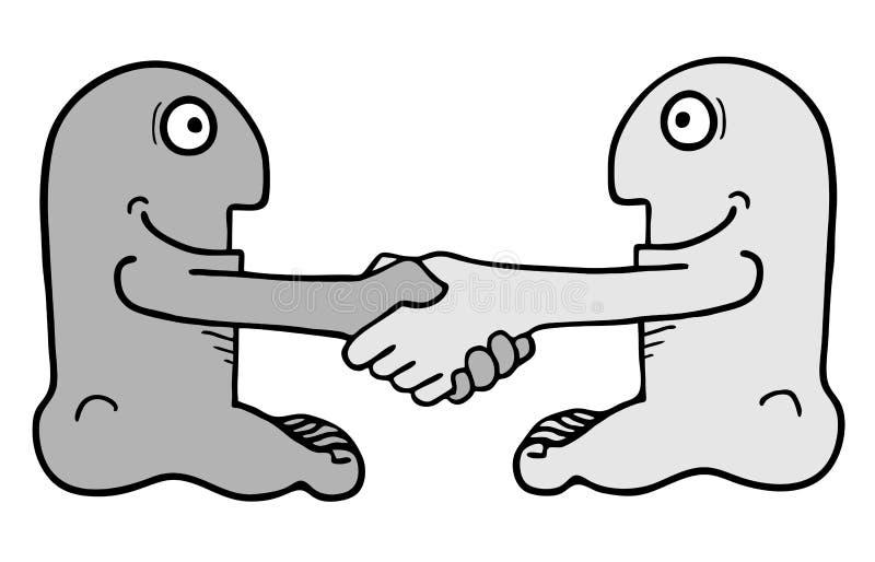 Funny friends. Creative design of funny friends stock illustration