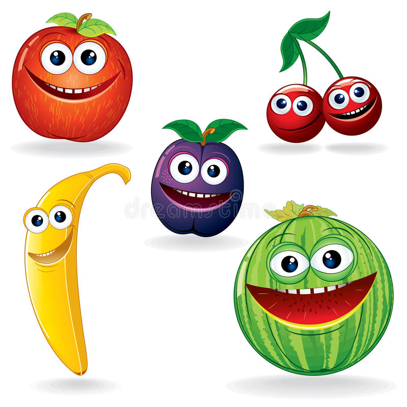 Download Funny Fruits B stock vector. Image of group, fresh, cherry - 26397604