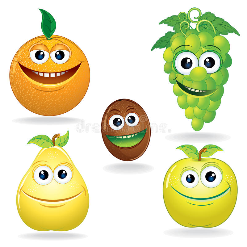 Download Funny Fruits C stock vector. Illustration of green, beauty - 26397611
