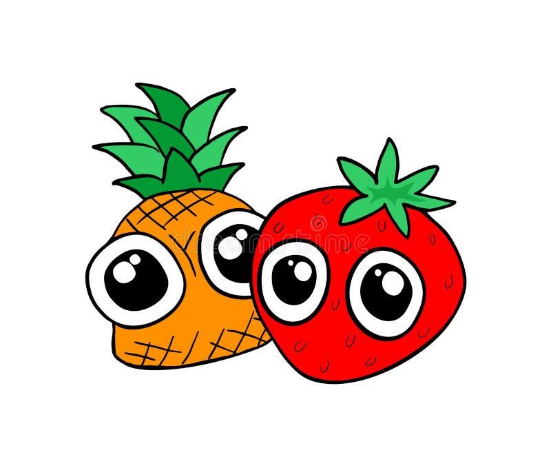Funny fruits design royalty free illustration