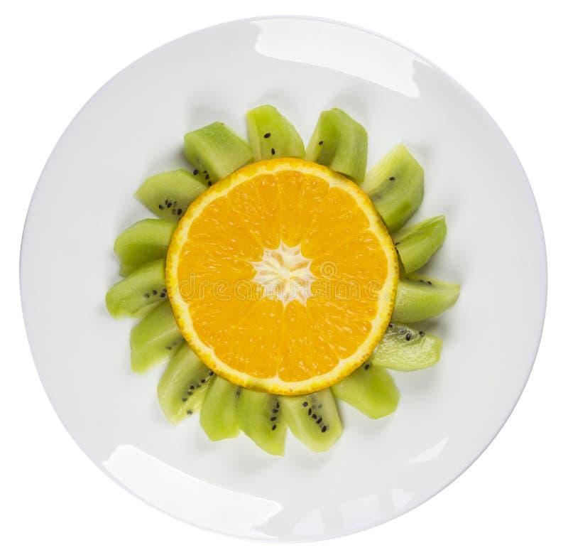 Free Funny Fruits - Oranges Flower Dish Isolated Royalty Free Stock Photo - 70669235