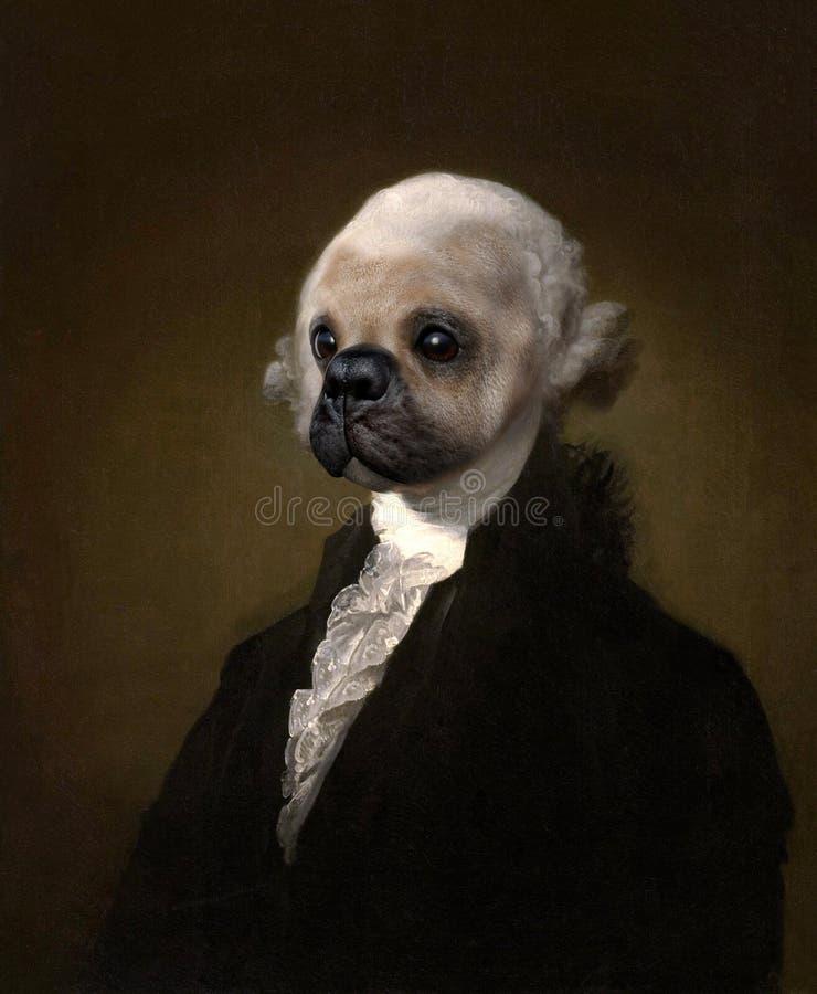 Free Funny George Washington Dog Painting Portrait Royalty Free Stock Photo - 160873445