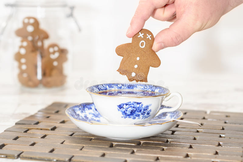 Funny Gingerbread stock image