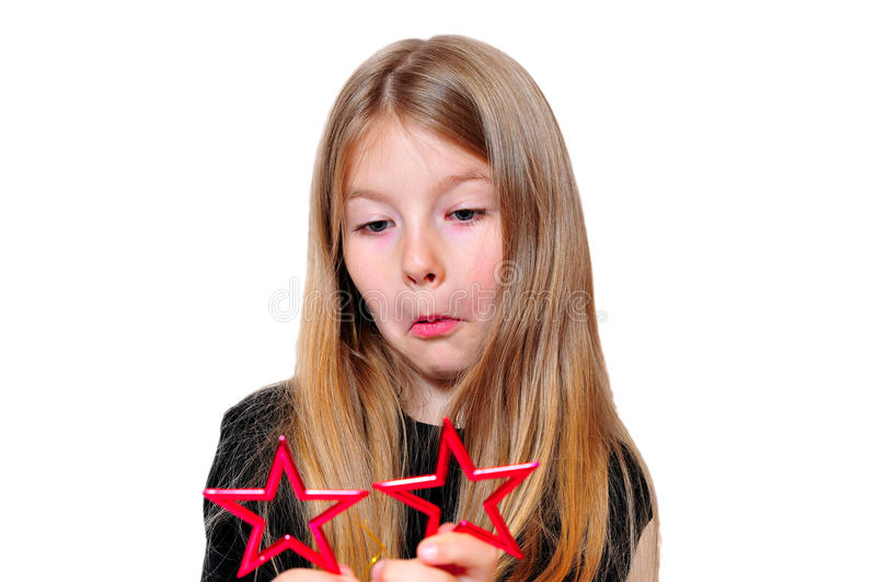 Funny Girl Christmas Star Royalty Free Stock Image