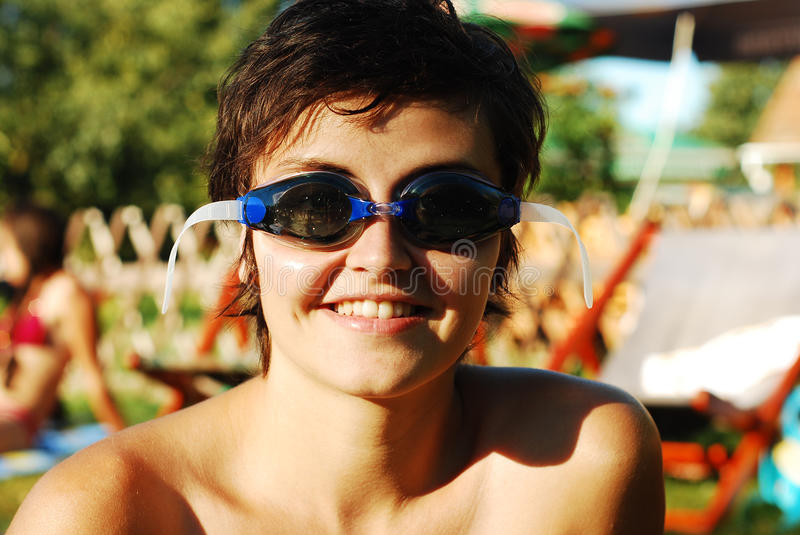 Download Funny Girl With Goggles Stock Photography - Image: 15839272