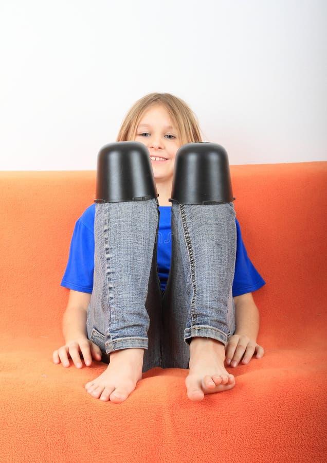 Funny Girl Stock Photo Image Of Shirt Barefoot Feet