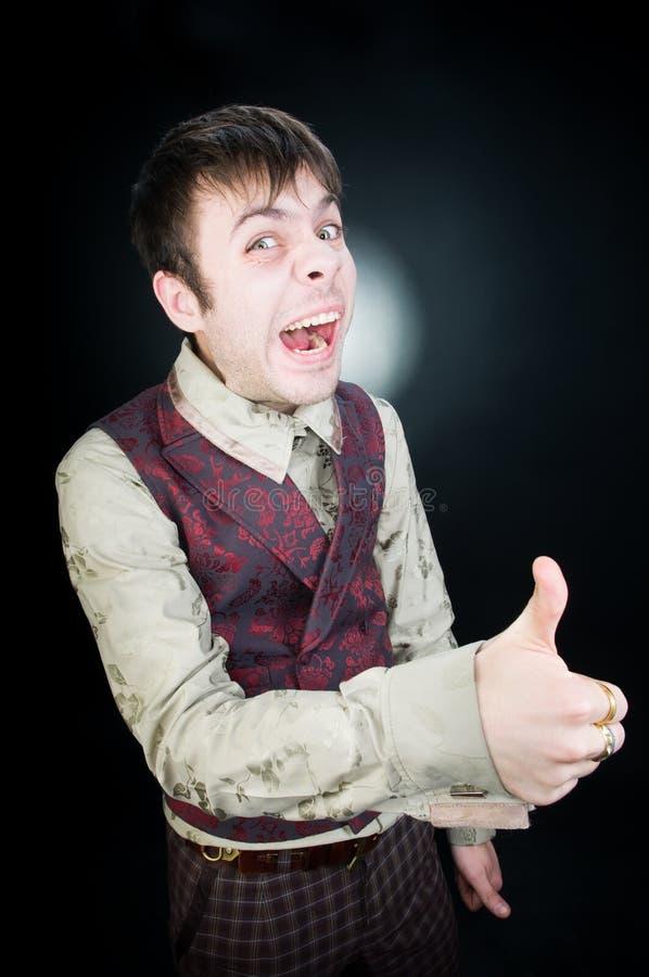 funny giving man thumbs up στοκ φωτογραφία με δικαίωμα ελεύθερης χρήσης