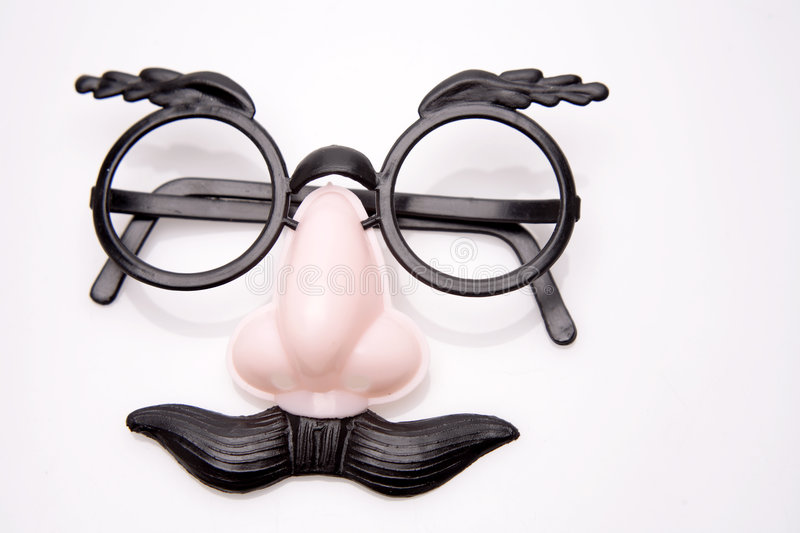 Funny glasses stock photo