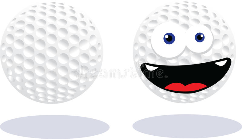 Download Funny Golf Ball stock vector. Image of anthropomorphic - 27183756