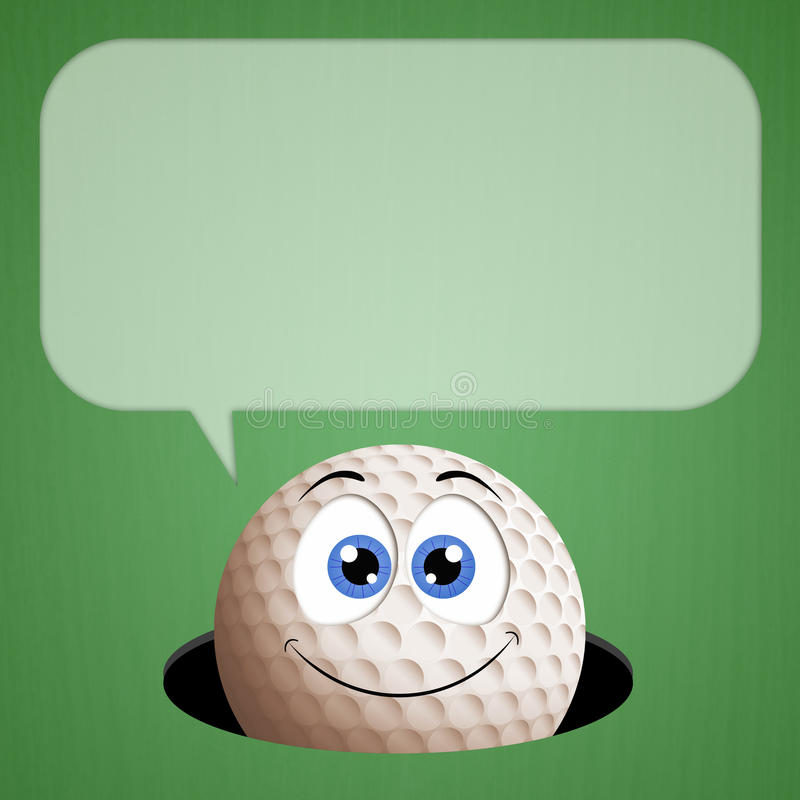 Funny golf ball in hole. Illustration of Funny golf ball in hole vector illustration