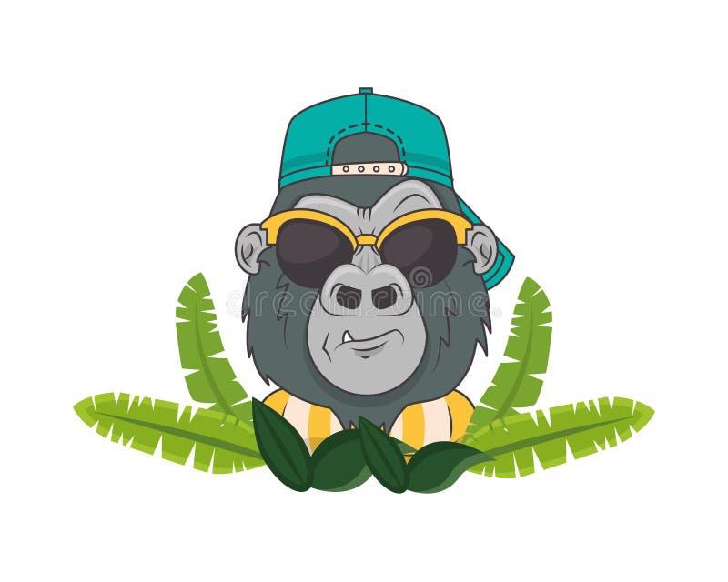 Red mafia gorilla bad  PRINTED T-SHIRT Retro cool hip old school