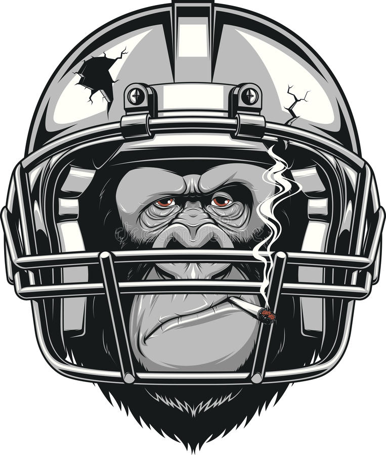 Funny gorilla vector illustration