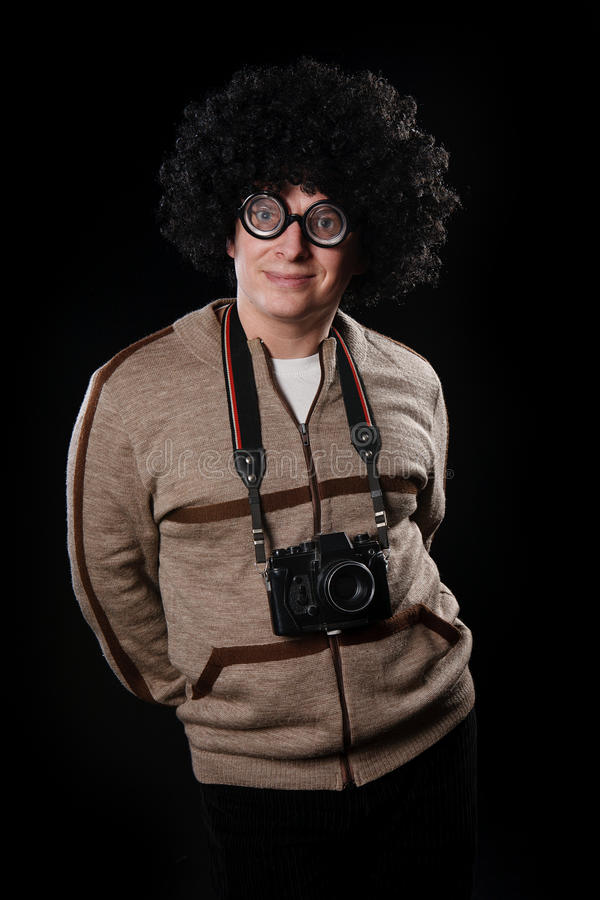 Download Funny guy with a camera stock photo. Image of happiness - 17264168