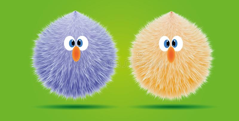 Funny hairy cartoon design stock images