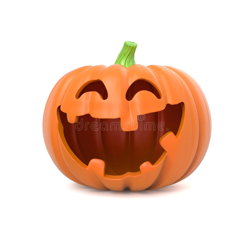 Funny Halloween pumpkin vector illustration