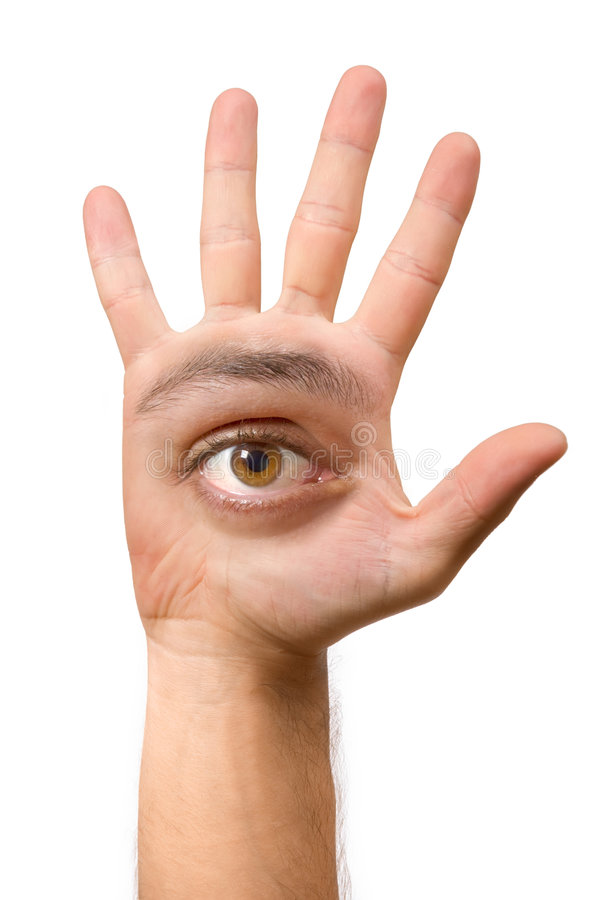 Funny hand stock image