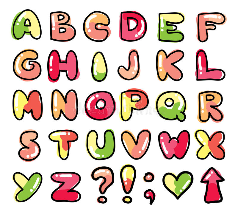 Download Funny alphabet stock vector. Illustration of arrow, drawing - 30086420