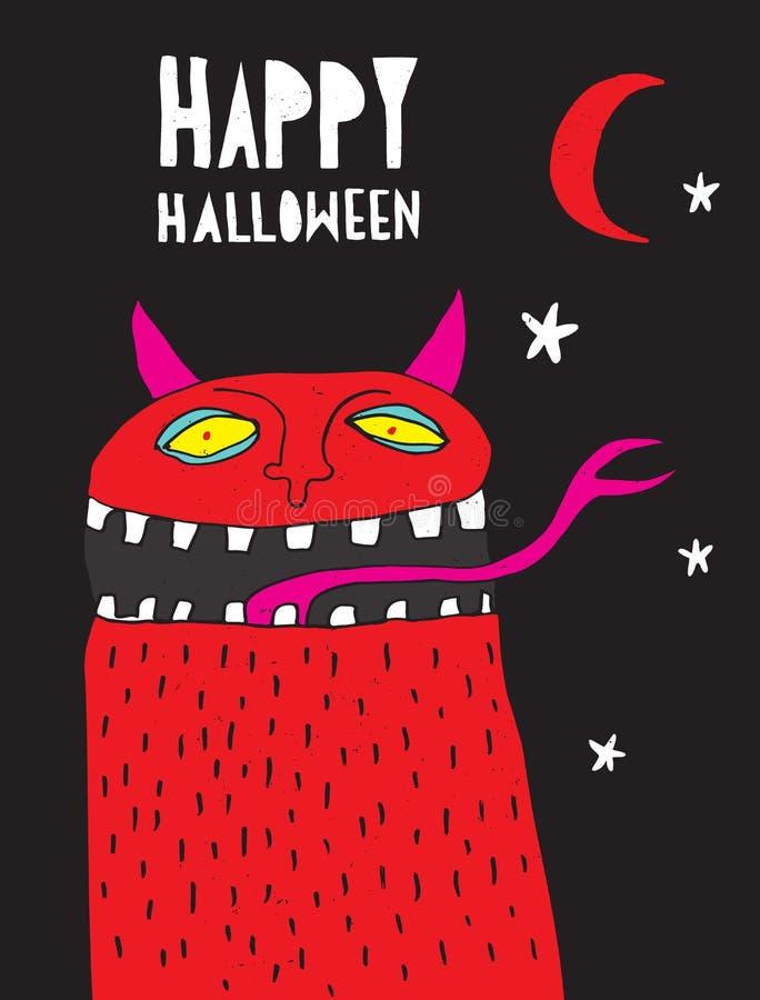 Devil moon stock vector illustration of halloween - Scary yellow eyes ...