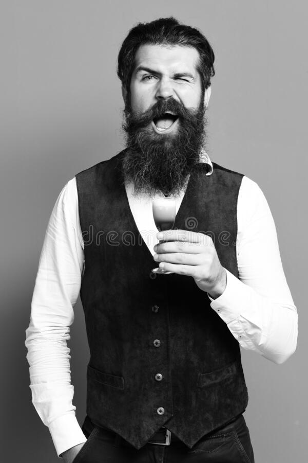 Funny handsome bearded man royalty free stock images