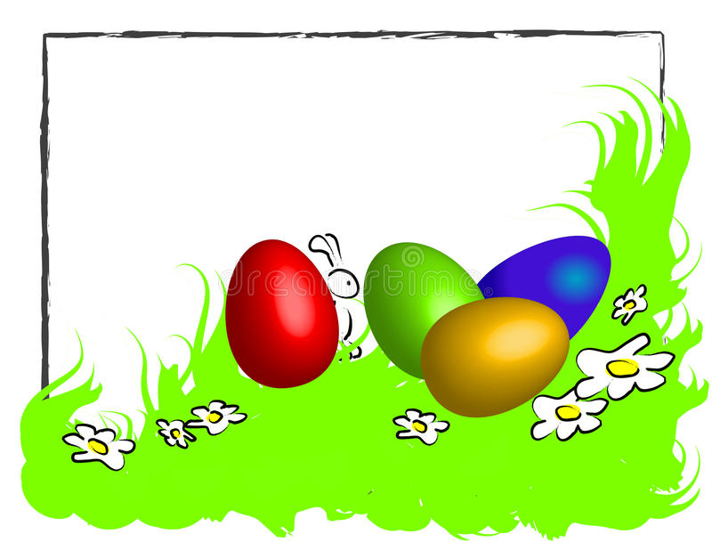 Funny Happy Easter Frame Stock Vector. Image Of Eggs