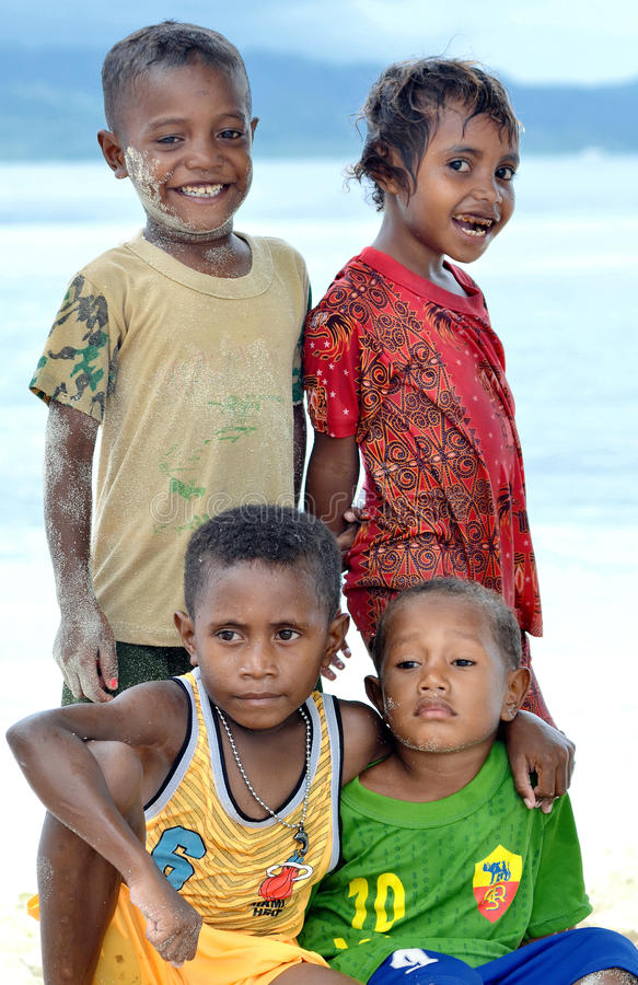 Download Funny & Happy Papua Kids editorial photo. Image of expression - 22226611
