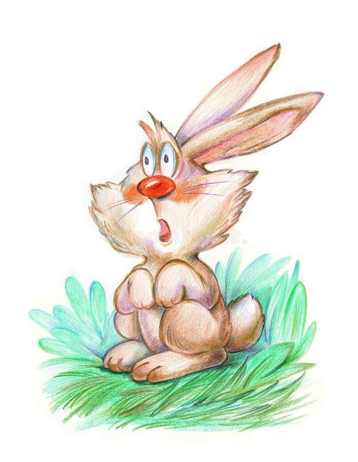 Картинка для детей испуганный зайка