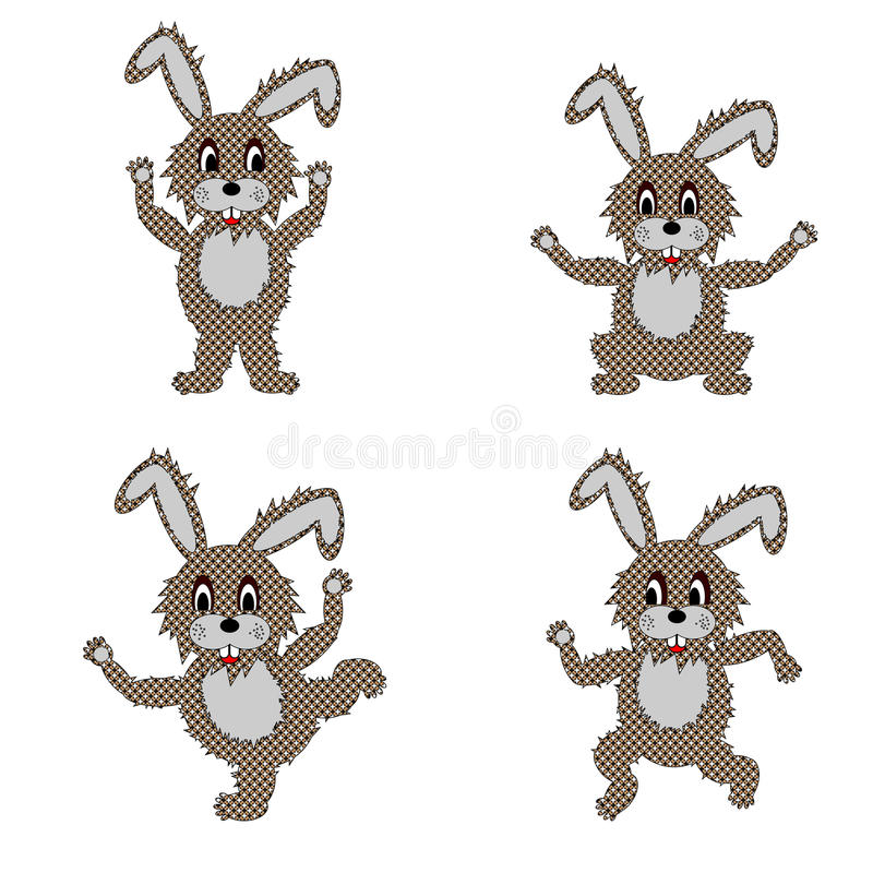 Download A Funny Hare Doing Morning Exercises Stock Vector - Image: 32081232