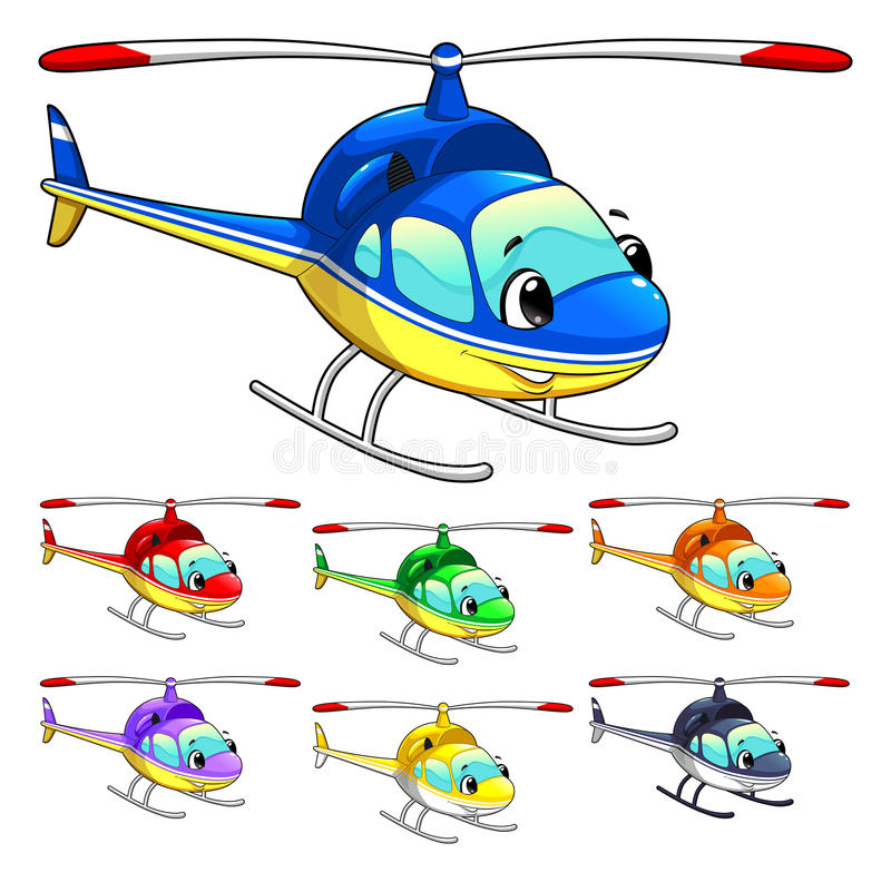 Download Funny helicopter. stock vector. Image of vehicle, humanize - 26315076