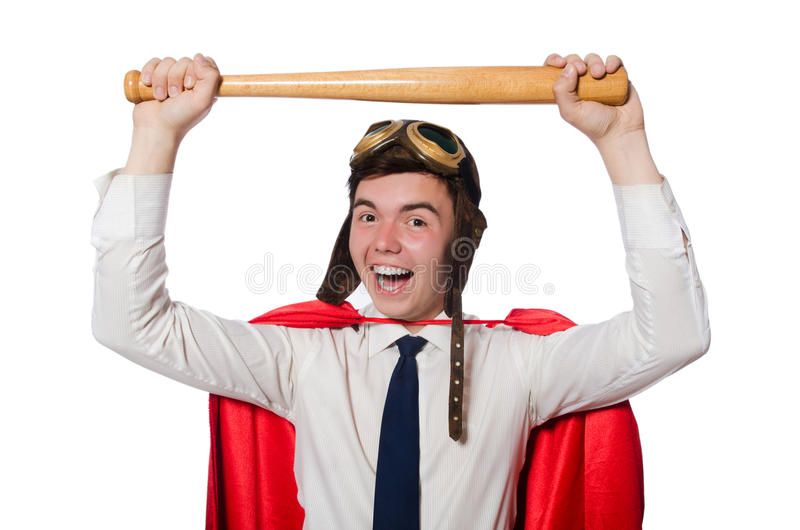 Funny hero i royalty free stock image