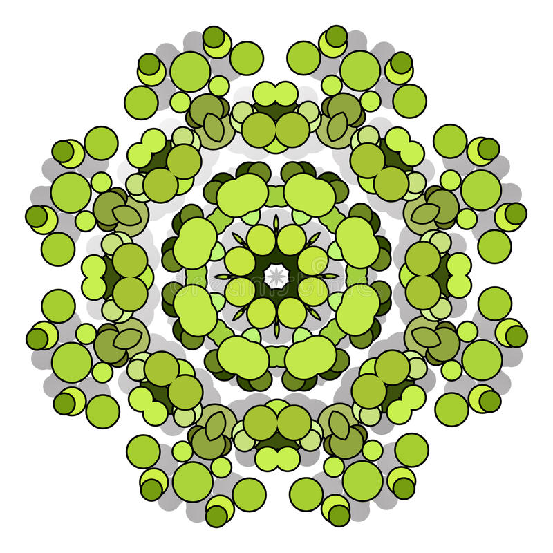 Funny hilarious, amusing pattern with bright circles. natural green background. Funny hilarious, amusing and entertaining pattern with bright circles. Abstract stock illustration