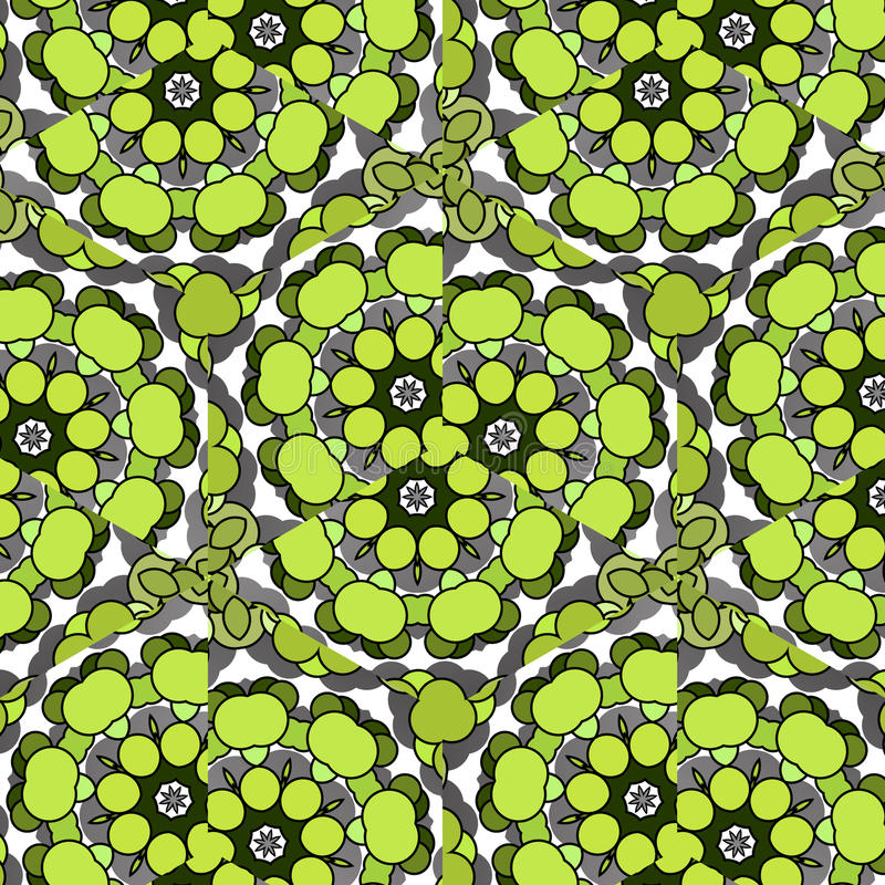 Funny hilarious, amusing pattern with bright circles. natural green background. Funny hilarious, amusing and entertaining pattern with bright circles. Abstract royalty free illustration