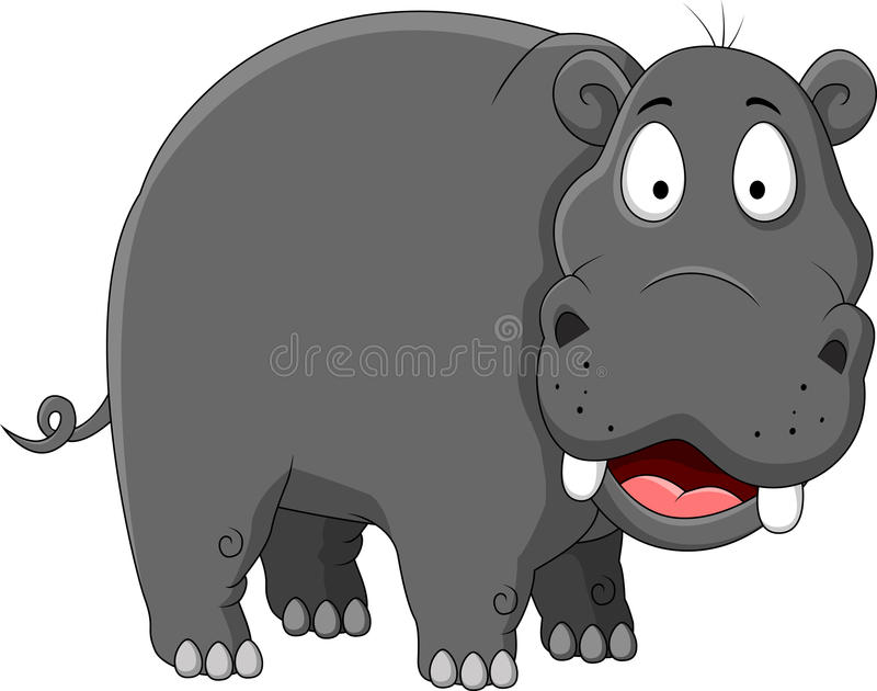 Download Funny hippo cartoon stock illustration. Image of blank - 27048240