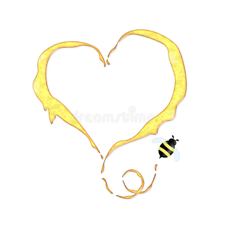 Download Funny honey concept stock illustration. Illustration of drop - 26029630