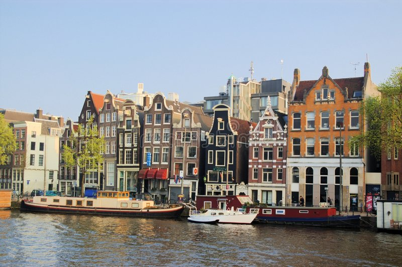 Funny houses of Amsterdam stock image