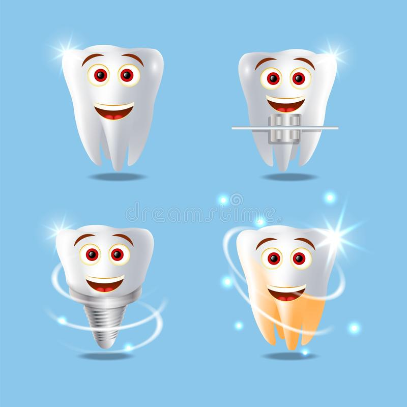 Professional dental services vector concept isolated illustration vector illustration