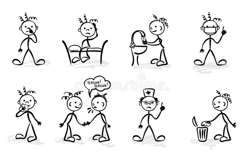 Funny hygiene vector illustration