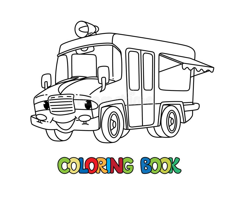 - Funny Ice Cream Truck With Eyes. Coloring Book Stock Vector - Illustration  Of Cute, Transportation: 178416219