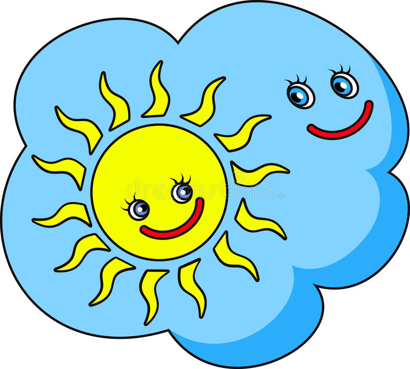Download Funny Image The Cloud And Sun Stock Vector - Image: 83714746