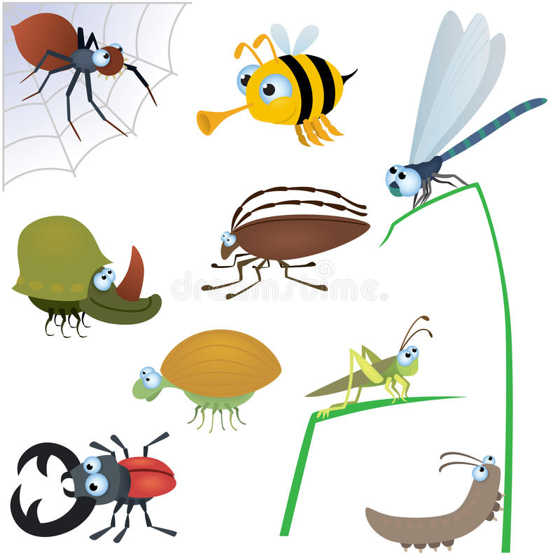 Free Funny Insect Set 2 Royalty Free Stock Photography - 21912327