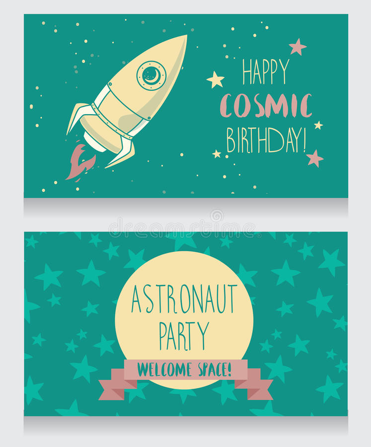 Funny invitation cards for boys birthday party stock vector download funny invitation cards for boys birthday party stock vector illustration of invitation astronaut stopboris Gallery
