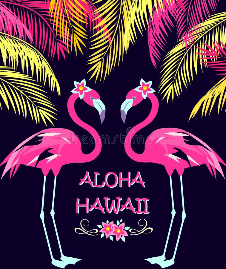 Free Funny Invitation For Night Beach Party In Hawaiian Resort Royalty Free Stock Image - 185511326