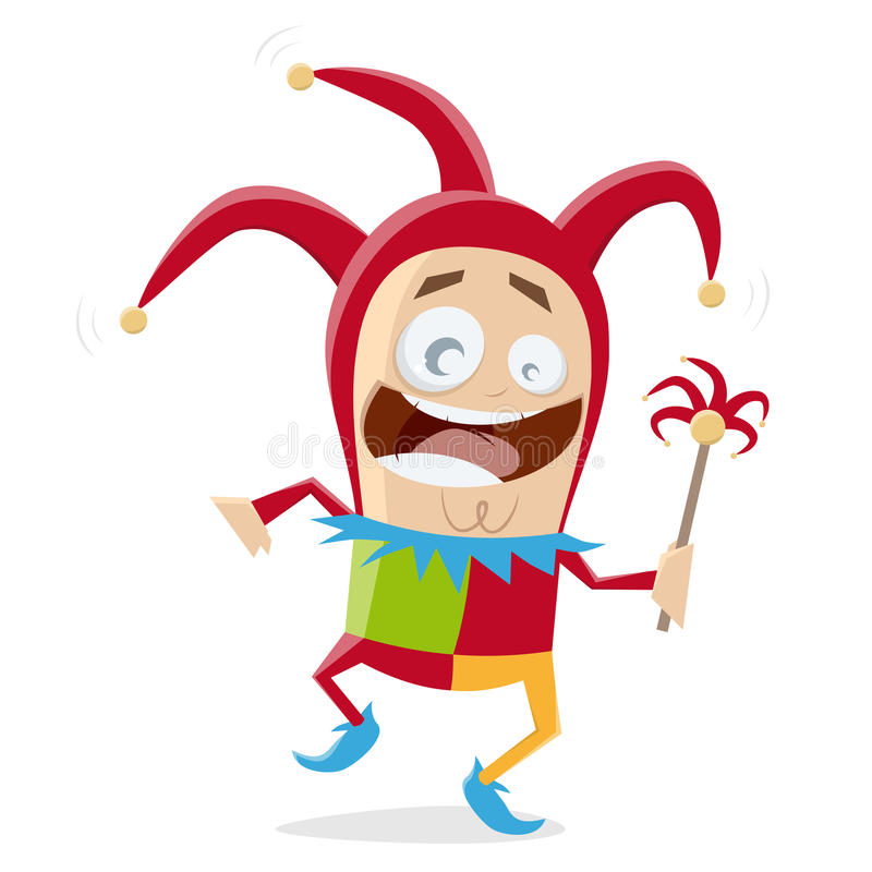 Funny jester clipart stock illustration