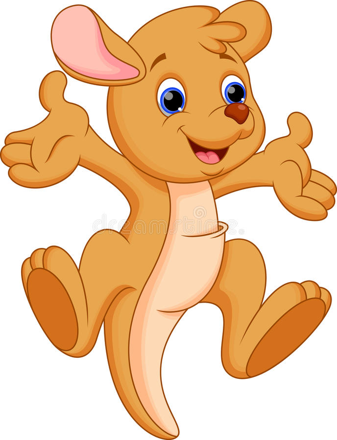 Funny kangaroo cartoon. Illustration of Funny kangaroo cartoon royalty free illustration
