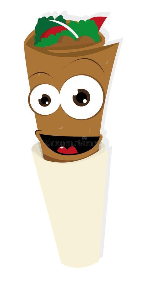 Funny Kebab royalty free illustration