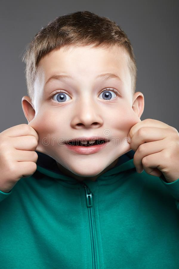 Free Funny Kid. Funny Grimace Emotion Child Royalty Free Stock Image - 125489416