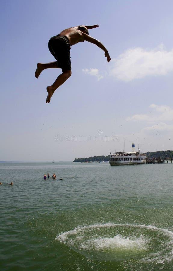 Download Funny kid jumping stock photo. Image of child, bathe, swim - 911428