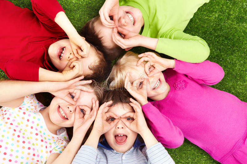 Funny kids stock images