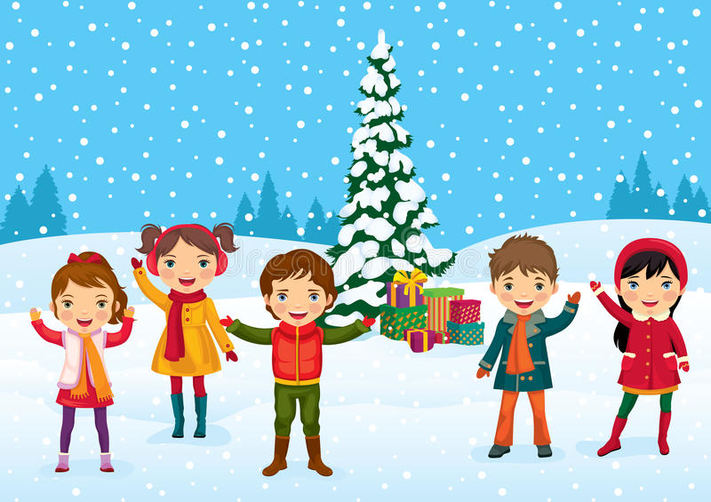 Download Funny kids stock vector. Image of blue, christmas, backgrounds - 22101951